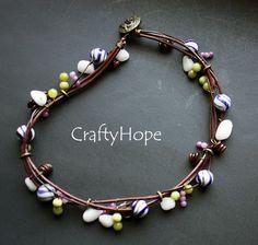 Crafty Hope: Lorelei's New Michael's Challenge Reveal-  Leather Wrap Bracelet