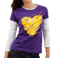 aff3beaf4 Reebok Minnesota Vikings Ladies Splash of Love Double Layer Premium Long  Sleeve T-Shirt -