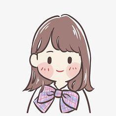 Cute cartoon girl hand drawn cartoon character png and psd file Cute Art Styles, Cartoon Art Styles, Cartoon Drawings, Cute Little Drawings, Cute Drawings, Arte Copic, Character Art, Character Design, Avatar Cartoon