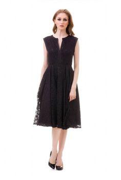 Rochie eleganta din dantela LIANA-N -  Ama Fashion Formal Dresses, Black, Fashion, Tea Length Formal Dresses, Moda, Formal Gowns, Black People, Fashion Styles, Black Tie Dresses