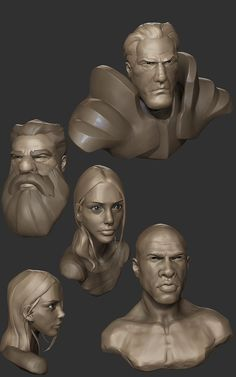 Busts01, Rory McMahon on ArtStation at https://www.artstation.com/artwork/z5meQ