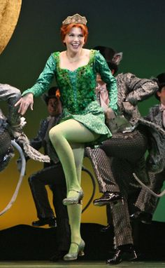 Sutton Foster in Shrek: the Musical. This is in Morning Person, one of my fav songs from that Musical.