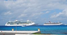 Jewel of the Seas, Carnival Miracle at Grand Cayman - #cruise