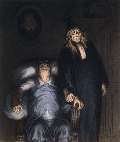 """The Imaginary Invalid"" by Honore Daumier (1808-1879) via Wikipaintings."
