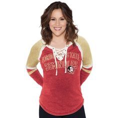 Florida State Seminoles Touch by Alyssa Milano Women's Backshot Jersey Long Sleeve T-Shirt - Garnet