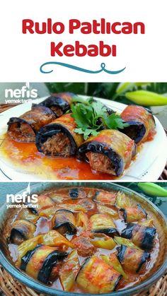 Rulo Patlıcan Kebabı Tarifi nasıl yapılır? 17.344 kişinin defterindeki Rulo Patlıcan Kebabı Tarifi'nin resimli anlatımı ve deneyenlerin fotoğrafları burada. Yazar: Nesli'nin Mutfağı Turkish Recipes, Italian Recipes, Ethnic Recipes, Salad Recipes, Snack Recipes, Fish And Meat, Fresh Fruits And Vegetables, Iftar, Family Meals