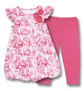 Roses Bubble Dress & Capris by Flapdoodles