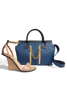 Simply perfect summer wedges and the best bag to pair with them.