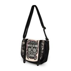 Loungefly Lace Skull With Fuschia Crossbody Bag - ~~ Definitely an option for SXSW