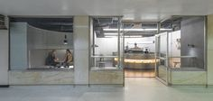 In early 2016, Voyager Espresso, a new specialty coffee bar, opened in a subway concourse of the Fulton Street station, in Manhattan's Financial District.