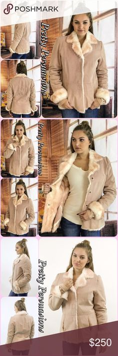 "Vintage 90's Faux Fux Lined Suede Winter Jacket Wilsons Leather VINTAGE 1990's Pink Suede Faux Fur Lined Coat   Size: Medium  Measurements taken in inches:  Length: 27"" not including fur trim/28"" including fur trim  Bust: 42""  Sleeves: 20.5"" (when end of sleeve is not rolled over) 21.5"" including fur trim coming out at end of sleeves  Waist: 38""   Bundle discounts available  Fair offers welcome No pp or trade  Item# 1/10111002500VWL   See comments below for rest of description Vintage…"