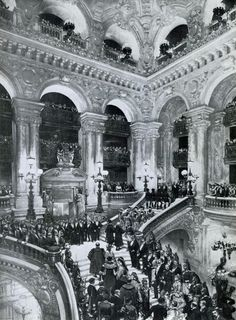Charles Garnier, Palais Garnier, 1861-1875. The Grand Staircase.