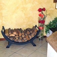 Firewood rack Onda Charcoal