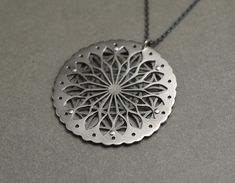 JEAN BURGERS, NZ: FLOWER OF LIFE NECKLACE #1 - STERLING SILVER.