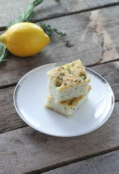 Lemon Herb Focaccia - FoodBabbles.com