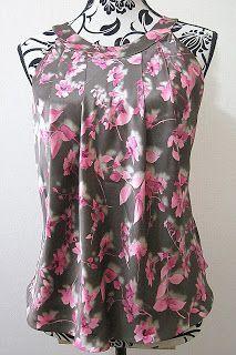 Patrón de costura gratis e instrucciones de confección Blusa cuello halter
