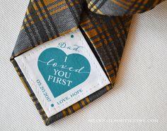 Vater der Braut Krawatte Patch • personalisierte Papa Geschenk • ich liebte dich erstes • Anzug-Label