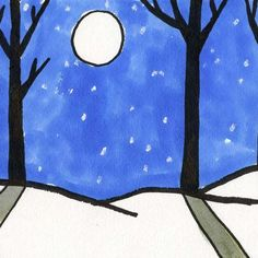 Sharpie Trees Winter Landscape