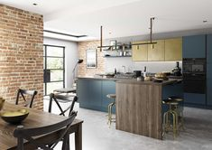 Cordon blue: the trending colour for #kitchen inspiration - Daily Dream Decor