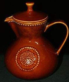 Melitta-Keramik-Kaffeekanne-Teekanne-Braun