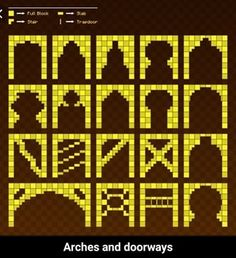 Arches and doorways - iFunny :) Minecraft Roof, Minecraft Cottage, Minecraft Mansion, Minecraft Structures, Cute Minecraft Houses, Minecraft Banners, Minecraft Plans, Amazing Minecraft, Minecraft Decorations