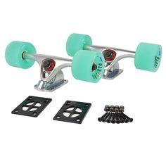 check discount 1 pair longboard skateboard durable magnesium alloy trucks combo70x51mm pu wheels #longboard #skateboard