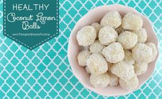A great treat to add to the kids lunchboxes or have these healthy coconut lemon balls on hand in the fridge as a healthy snack option. Healthy Snack Options, Healthy Sweet Treats, Healthy Snacks, Healthy Hair, Sweet Recipes, Real Food Recipes, Snack Recipes, Cooking Recipes, Vegan Recipes