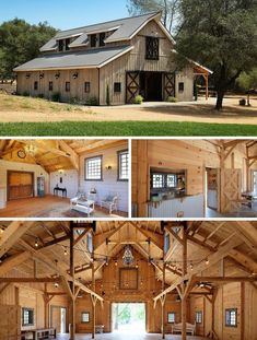 Plan Rustic House Plan with Large Outdoor Living Area and Stair Silo Raised center barn architecture. Plan Rustic House Plan with Large Outdoor Living Area and Stair Silo Raised center barn architecture. Rustic House Plans, Barn House Plans, Rustic Houses, Pull Barn House, Pole Barn Homes Plans, Rustic Barn Homes, Metal Barn Homes, Barn Style Houses, Rustic House Design