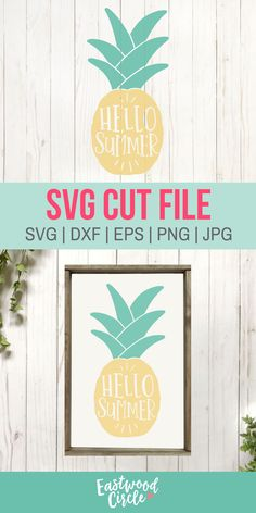 This summer SVG file works great with the Cricut and Silhouette Cameo for crafters to make DIY projects such as shirts, signs, mugs, and more! Works great with heat transfer vinyl. Cricut Craft Machine, Cricut Craft Room, Cricut Vinyl, Vinyl Crafts, Vinyl Projects, Craft Projects, Summer Diy, Summer Crafts, Transfer Paper