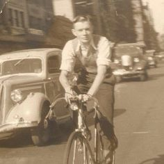 Cheeky Transport » Blog Archive » Urban cycling style inspiration from 1937. The rider is Geoff, the father of one of our customers and dear...