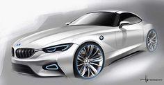 Alan Derosier - Transportation design: For the Bimmers! Bmw Design, Car Design Sketch, Car Sketch, Auto Design, Concept Bmw, Design Transport, Bavarian Motor Works, Automobile, Industrial Design Sketch