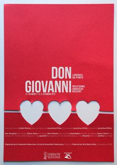 Cartel de la Ópera Don Giovanni