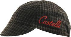castelli wool cycling cap grey plaid