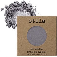 Stila NEW IN BOX Shore Eyeshadow BRAND NEW IN BOX beautiful Shore COLORED eyeshadow by Stila. Has a light shimmer to it. pretty gray with hint of blue. Stila Makeup Eyeshadow
