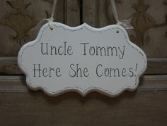 Wedding Sign Hand Painted Wooden Cottage Chic by kimgilbert3, $24.00