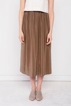 Bel Skirt in Silk Crepe