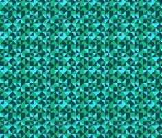 Geometric-Blue fabric by ibee_eneich on Spoonflower - custom fabric