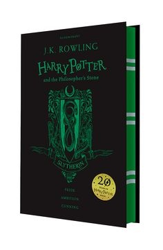 Harry Potter | House Editions: Slytherin hardback. Exclusive Gryffindor house edition to celebrate the 20th Anniversary of the first publication of Harry Potter and the Philosopher's Stone.