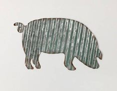 Pig/Metal Pig Wall Decor/Farmhouse/Farm/Corrugated Metal Pig/Galvanized Animal/Farmhouse Decor/Country/Kitchen by TheShabbyStore on Etsy https://www.etsy.com/listing/562301898/pigmetal-pig-wall