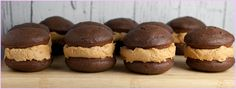 Brooklyn Farm Girl: Delicious Chocolate Peanut Butter Buttercream Whoopie Pies