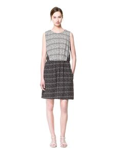 Image 1 of COMBINATION PRINT DRESS from Zara