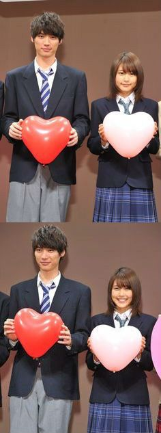 """Sota Fukushi x Kasumi Arimura, preview screening of J live-action movie from manga """"Strobe Edge"""", 02/16/2014. Release: March 14th 2015 [Trailer]"""