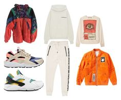 """""""nicky"""" by sarahcampbl on Polyvore featuring Gucci, Yeezy by Kanye West, Helmut Lang, Fila, NIKE, men's fashion and menswear"""