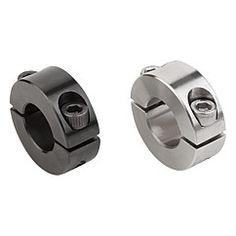 Bague d'arrêt en deux parties, version aluminium // Shaft collars two-piece, aluminium version // REF 07812