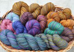 A basket of handspun yarn