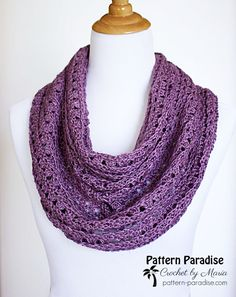 Free Crochet Pattern for textured scarf or cowl by Pattern-Paradise.com #patternparadisecrochet #crochet #scarf #freepattern