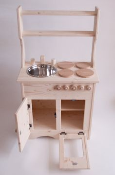 Wooden Play Kitchen Children's Toy Play Set by Rewoodtoys on Etsy