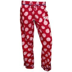 Philadelphia Phillies Polka-Dot Pajama Pants ($14) ❤ liked on Polyvore