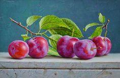 pinturas-realistas-ainda-da-vida-com-frutas - - Painting Still Life, Still Life Art, Botanical Art, Botanical Illustration, Vegetable Painting, Fruit Painting, Still Life Photos, Fruit Art, Still Life Photography