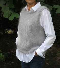 Knit Vest Pattern, Easy Knitting Patterns, Knit Fashion, Aesthetic Clothes, Diy Clothes, Baby Knitting, Knitwear, Knit Crochet, Couture